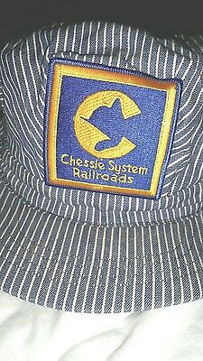 Vintage & Rare Chessie System Railroad Engineer Cap Hat Snap Back Never Worn