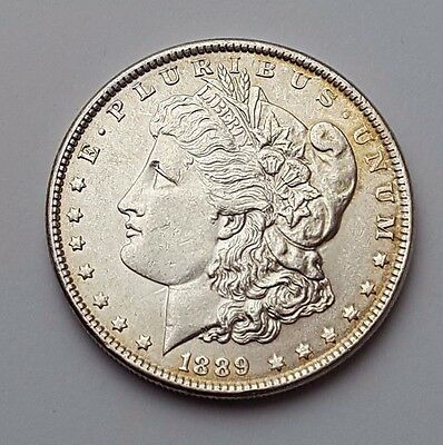 U.s.a - Dated 1889 - Silver - Morgan - $1 One Dollar Coin - American Silver Coin