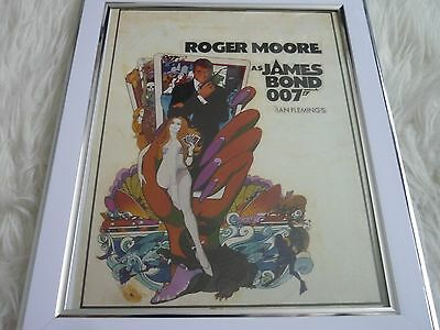 James bond 007 Collection Movie poster Tony nourman Framed Live and let die