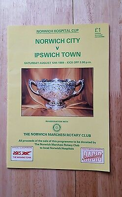 Norwich City v Ipswich Town Hospital Cup friendly 12/08/89