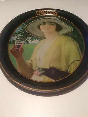 1920 Rare Coca Cola Original Serving Tray-Golfer girl