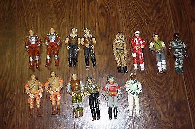 Gi Joe G.i.joe Arah Lot Of 14 Figures Loose Original 1984 Hasbro Vintage