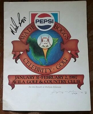 VERY RARE 1987 MS Golf Tournament Program WADE BOGGS Signed!