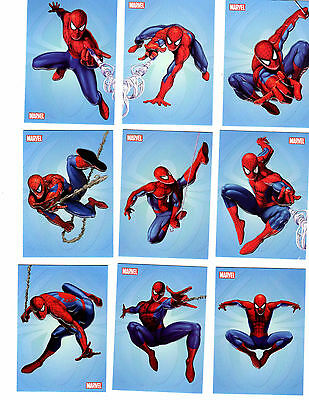 Spider-man Archives Swinging into Action Embossed set of 9 cards