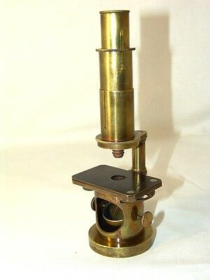 antique brass MICROSCOPE L.BENECHE BERLIN