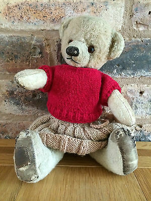 """Extremely Rare & Cute Early 1940s Cubby Chad Valley 12"""" Teddy Bear"""