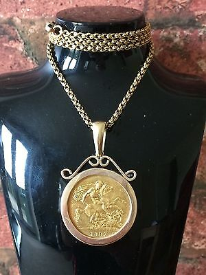 Rare 1887 Queen Victoria Golden Jubilee Five Pound 22ct Gold Coin Pendant