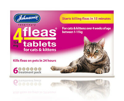 johnson's 4flea tablets for cats & kittens (6 Treatment Pack)