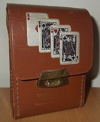 Vintage Double Pack Playing Cards in Leather Case - Edinburgh