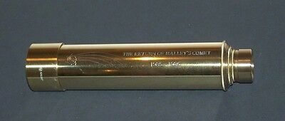 Vintage 1985-1986 Return of Haley's Comet Brass Telescope Hand Held Japan