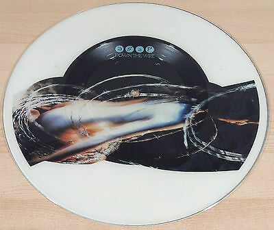 ASAP Down The Wire UK 1990 Pic Disc Error with White Background Iron Maiden