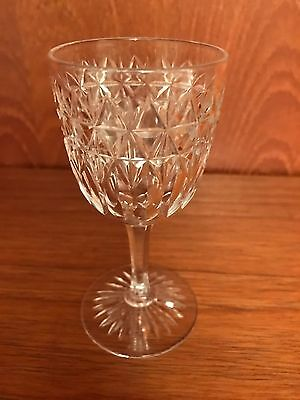 10x ANTIQUE AUTHENTIC EDWARDIAN (1910?) CUT GLASS CRYSTAL GLASSES. ROYAL STUART