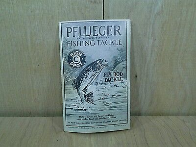 1931 Pflueger Fishing TACKLE Promo Catalog Collectors Vintage Fly Rod Tackle