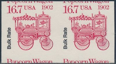 #2261A 16.7c POPCORN WAGON IMPERF PAIR WITH PFC CERT  NICE LOOK ( C456)
