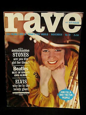 Rave Collectors Magazine No 10 Nov 1964 Cilla, Stones, Beatles, Elvis