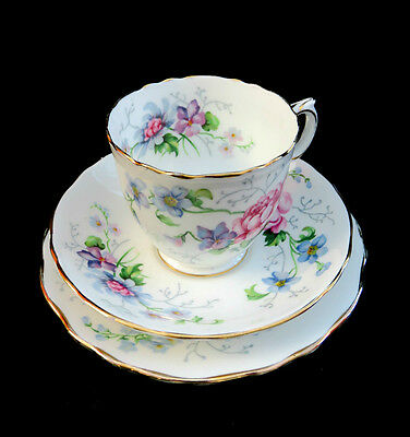 Lovely Vintage Crown Staffordshire Trio England'S Glory Pattern