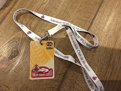 RALLY MONTE CARLO 2015- WORLD RALLY CHAMPIONSHIP (WRC) Team Lanyard and pass
