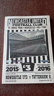 2015/16 Newcastle United V Tottenham Hotspur