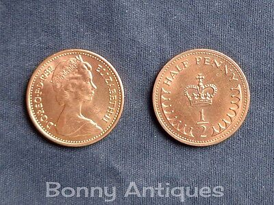 1971-1982 Uk Gb Decimal 1/2P Half New Penny Coins Erii
