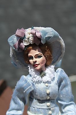Artist Made Edwardian / Victorian Lady  1:12 scale