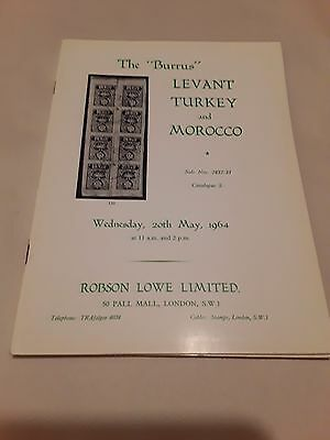 Philatelic Stamp Books Robson Lowe the Burrus Levant Turkey  and Morocco  1964