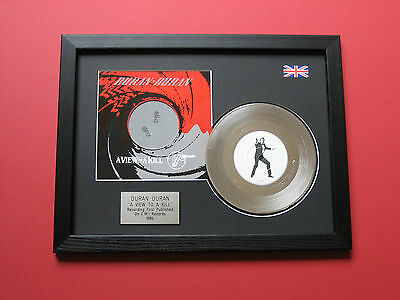 "DURAN DURAN A View To A Kill PLATINUM 7"" Single Disc & Cover Presentation"