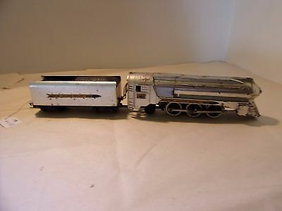 American Flyer S Gauge 356 Silver Bullet 4-6-2 Pacific Locomotive & Tender Runs