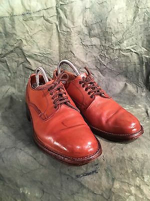 Vintage Bench Made Russel And Bromley  Leather Soled Chestnut Derby Shoes  UK 7