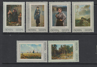 Russia 1971  SG3982/87 - Russian Paintings -  MNH set of 6
