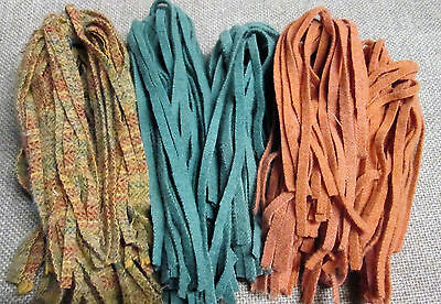 #6 Hot Fruity Mix 150 Wool Strips for Primitive Rug Hooking