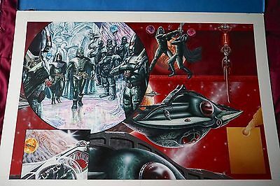 "Doctor Who Ice Warrior Original Andrew Skilleter painting for ""The Monster Book"""