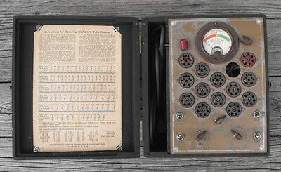 Vintage Weston 682 Tube Tester for Parts or Repair