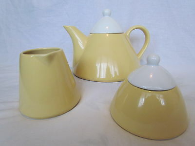 Retro Vintage Conical Teapot, Jug And Sugar Bowl - Beautifully Stylish