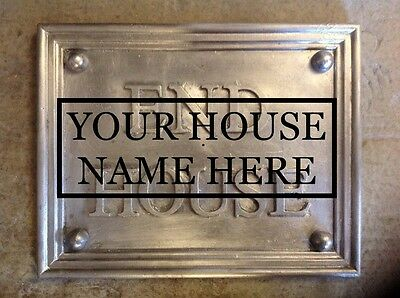 """SOLID LEAD HOUSE BESPOKE NAME PLAQUE. """" YOUR HOUSE NAME  """" 40mm lettering"""