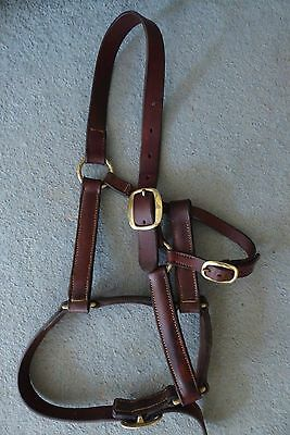 Headcollar English Leather Adjustable Cheek and Nose Full/Cob Size