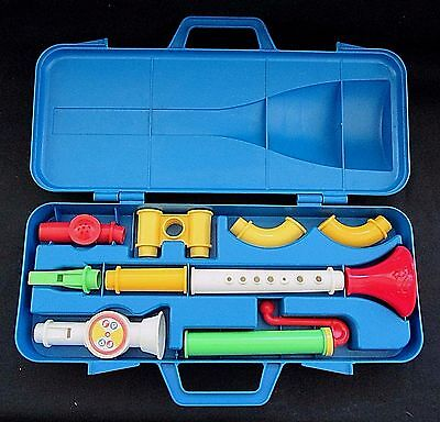 Vintage Fisher Price Crazy Combo Horn Set 604 Musical Instruments Complete 1984