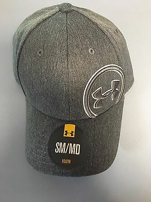 NEW Gray Youth Under Armour S/M Baseball Cap 1262200