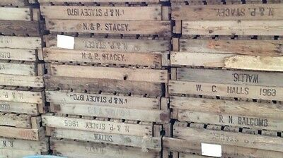 1 Vintage Wooden Rustic Potato Chitting Tray Crate Box apple farm shop