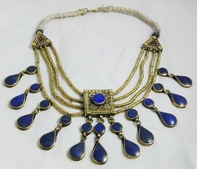 Handmade  afghan tribal Traditional Jewelry necklace pendant  lapis lazuli