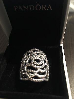 NEW Authentic Pandora Shimmering Rose Ring #190951CZ Size 5.5, 6.5,