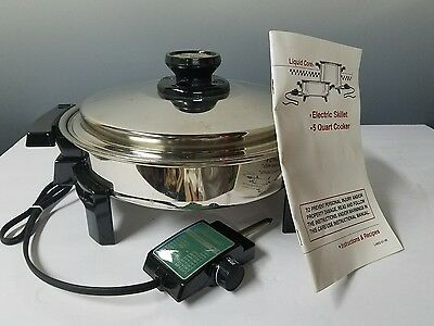 Kitchen Craft Liquid Core Electric Skillet Model 17884 By West Bend  900 Watts