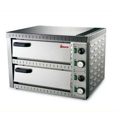 Commercial Electric Sirman Stromboli 2 Double Deck Stone pizza oven