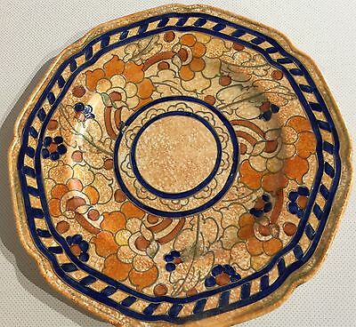 RARE Signed Crown Ducal Charlotte Rhead Byzantine Plate Wall Plate Charger