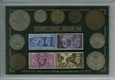 The London Olympic Games Vintage Olympics Coin & Stamp Collector Gift Set 1948