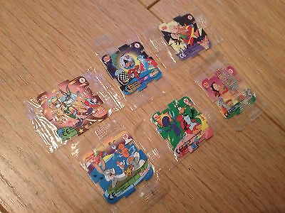 6 x New in Packets Walkers Qubix Looney Toons Numbers 4 , 5 , 25 , 28 , 30 , 31