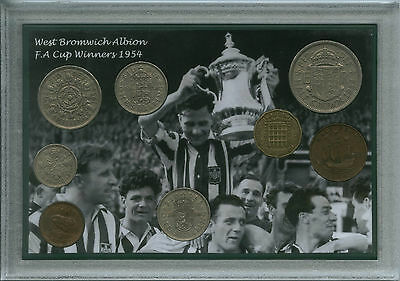 West Brom Bromwich Albion WBA Vintage F.A Cup Final Winners Coin Gift Set 1954