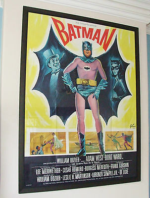 ORIGINAL 1966 BATMAN Film Movie poster Adam West Burt Ward French Issue - RARE !