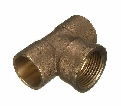 "22mm x 22mm x 1/2"" Threaded Centre Tees - End Feed"