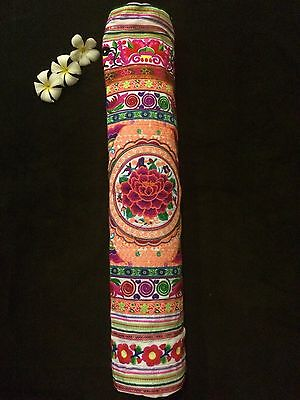 Yoga Mat Bag - Embroidered and handmade by Thai Hill Tribe (Neon Nemesis)