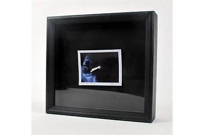 U2 Bono, Vampire Clock. Signed. A Quartz Alarm Clock, Mounted On A Black Box